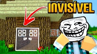 Minecraft: PORTA INVISÍVEL !! - (Minecraft Troll)