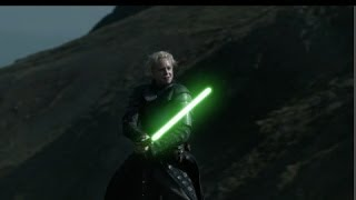 game of thrones star wars brienne vs the hound with light sabers