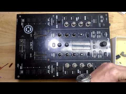 DJM T1 Pioneer mixer, fader cleaning