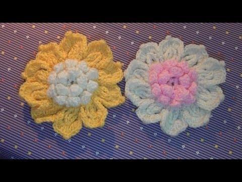 Hướng dẫn móc len - Mẫu hoa lan 2 lớp