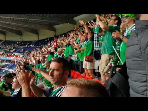 Northern Ireland Fans after final Whistle vrs Germany Will Grigg is on Fire Euro 2016