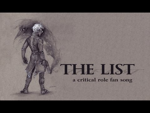 The List | a critical role fan song (DEMO)