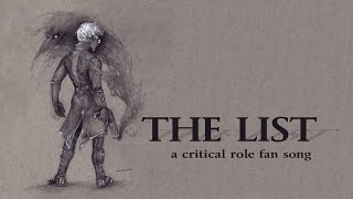 """""""The List"""" (critical role fan song) DEMO"""