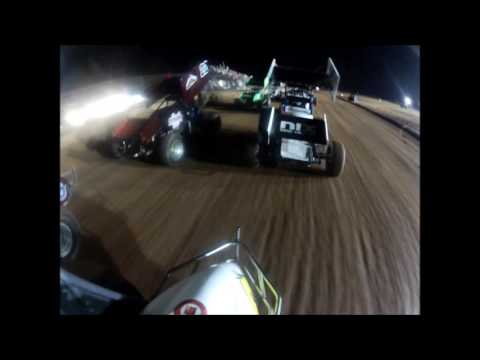 Whit gastineau 2w OCRS Lawton Speedway Sprintcar A Feature 06-05-2016 Flip