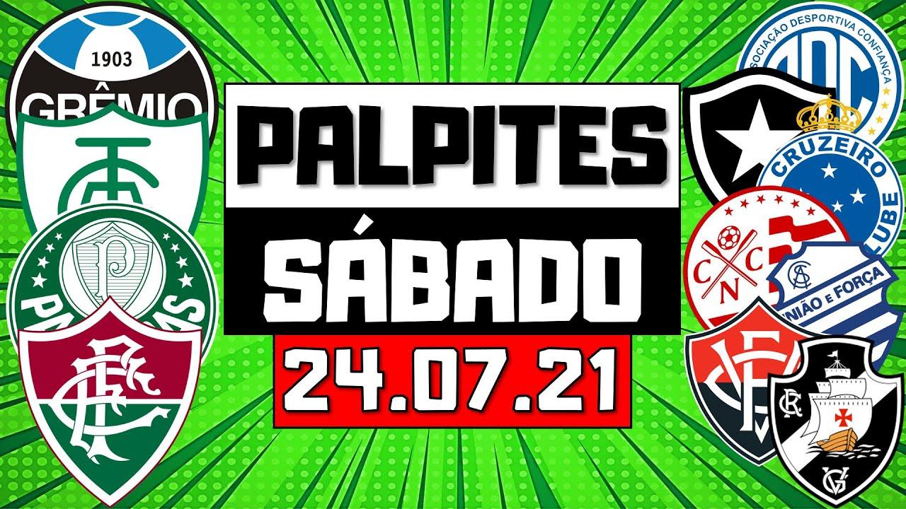 PALPITES DE FUTEBOL PARA SÁBADO 24/07/2021 + BILHETE ARRISCADO