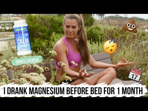 I Drank MAGNESIUM Before Bed For A Month | CALM MAGNESIUM HONEST REVIEW