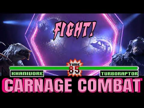 Khanivore vs Turboraptor with Healthbars | Love, Death & Robots (2019) Carnage Combat