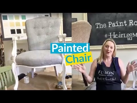 Painted Furniture! DIY Chair Fabric Painting