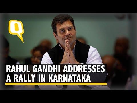 Rahul Gandhi Addresses a Rally in Bhatkal, Karnataka | The Quint