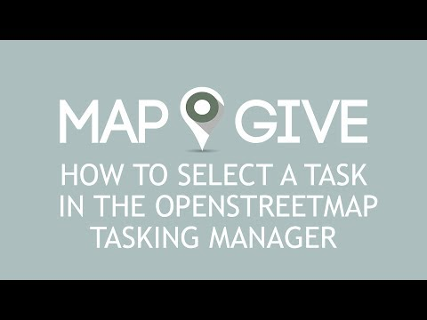 Select a Task in the OpenStreetMap Tasking Manager