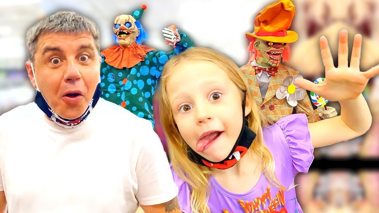 Download Nastya und Papa verkleiden sich und machen mysteriöse Einkäufe für Halloween