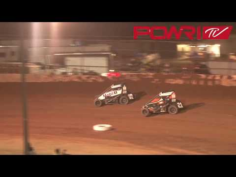 3-24-18 / POWRI Lucas Oil National Midget League A-Main Highlights from I-44 Riverside Speedway