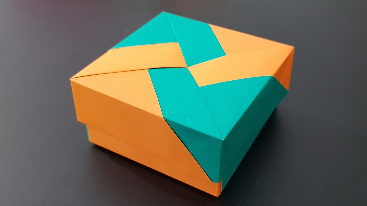 Simple origami box tutorial | Origami cube, Construction paper ... | 720x1280