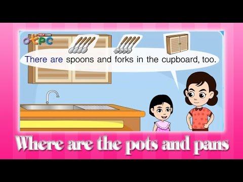 ภาษาอังกฤษ ป.3 - Where are the pots and pans? [10/38]