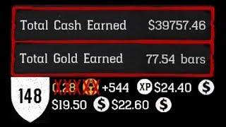 RDR2 Online Earn Gold Money & XP Hunting VLOG (NO GOLD BAR + $259 + 1125 XP)/HR Birds Low End Return