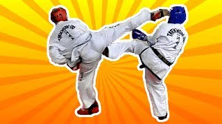 Крутые спаринги тхэквондо! НОКАУТЫ! Taekwondo ITF - соревнования в Новосибирске 2018. Мужчины