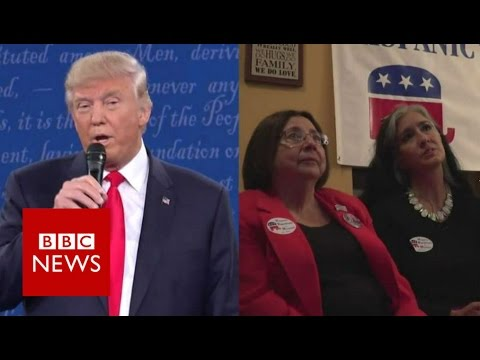 We watched the debate with Trump's fans - BBC News