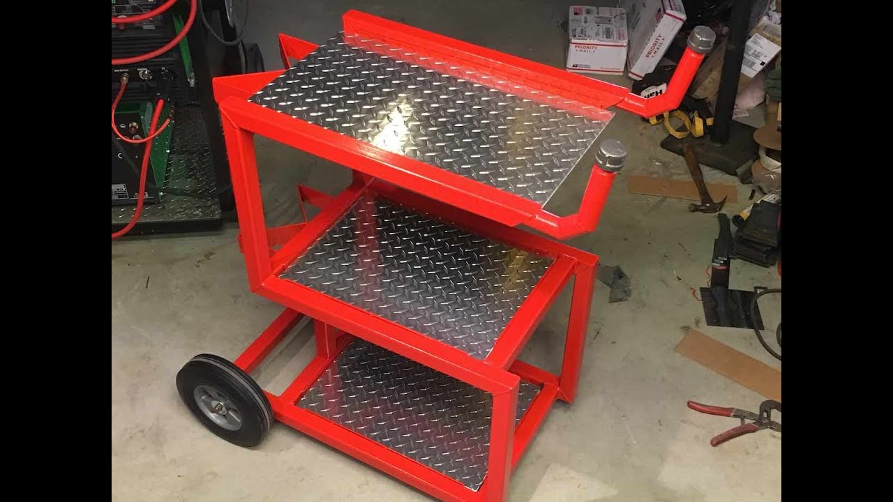 Welding Cart Done Ahp Plasma Cutter And Plasmacam Trial