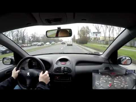 02-04-2015 Driving Peugeot 206 In The City Part 1 4K