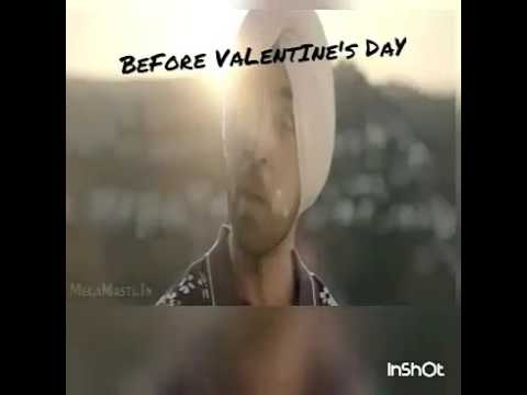 Valentine day chutiyapa. Funny before and after reaction