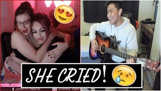 TWITCH SINGING | SHE CRIED TO MY SINGING! [BEST REACTIONS] [2019]
