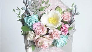 Цветочный конвертик, открытка. Скрапбукинг - весна. Мастер класс от SB