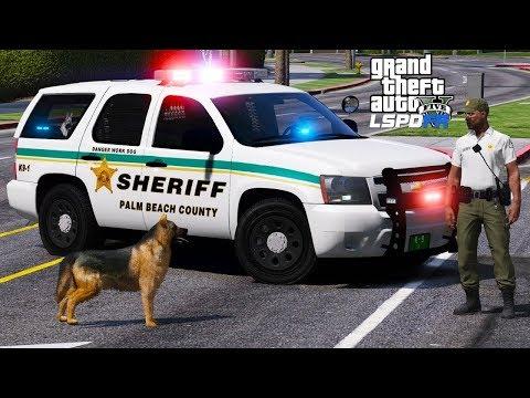 GTA 5 LSPDFR Police Mod #621 Palm Beach County Sheriff Office - K9 Unit