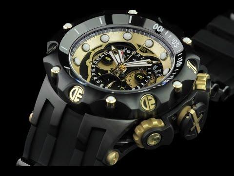431fd632587 Invicta 20430 52mm Reserve Venom Hybrid Master Calendar Chronograph Strap  Watch