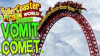 RollerCoaster Tycoon World Gameplay - The Vomit Comet 104 MPH Roller Coaster - BETA Gameplay Part 3