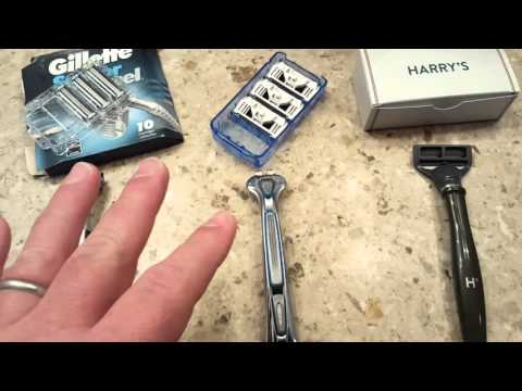 Razor test:  Gillette vs. Dollar Shave vs.Harry's