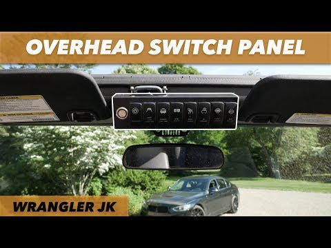 Voswitch 8-Switch Overhead Switch Panel // Jeep Wrangler JK & JKU