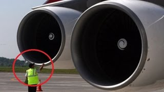 Tragic  - Mechanics It sucked Killed While Working Aircraft Jet Engine