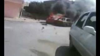 انقاذ مدني أصابته كتائب القذافي في مصراتة