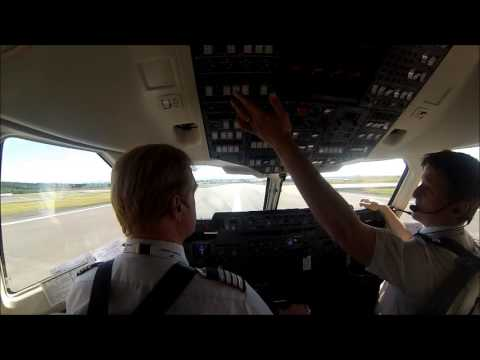 [ Why I Fly ] Cockpit video - AVRO Rj100 Takeoff Rwy 01 Reykjavik Iceland visual Fantastic view