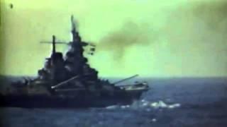 USS Wisconsin (BB-64) Under Attack WW2, 05/01/45 (full)