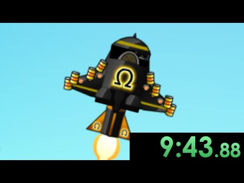 I tried speedrunning Learn To Fly 3 and upgraded my penguin beyond comprehension