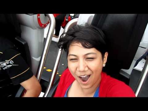 Roller coaster Galactica-Human, Universal Studio, Singapore