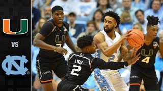 Miami vs. North Carolina Basketball Highlights (2017-18)