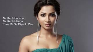 Tujh Mein Rab Dikhta Hai (Lyrics) | Female Version | Shreya Ghoshal | High Quality Sound