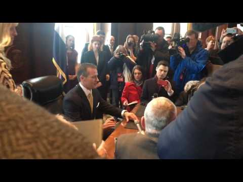 Gov. Eric Greitens signs first executive order