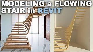 Modeling a Flowing Stair in Revit Tutorial