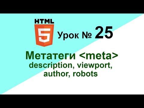 Мета теги meta description, viewport, author, robots Как писать мета теги Урок 25