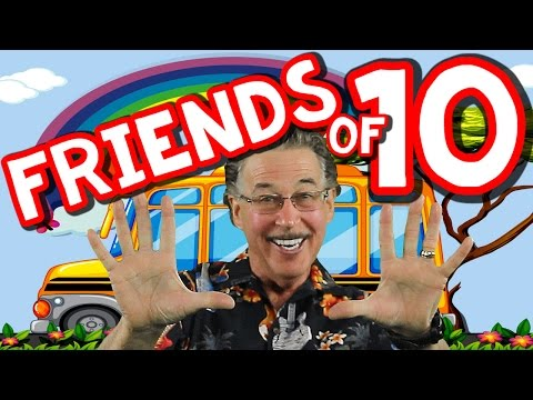 Friends of 10   Learn to Add   Math Song for Kids   Addition Song   Jack Hartmann