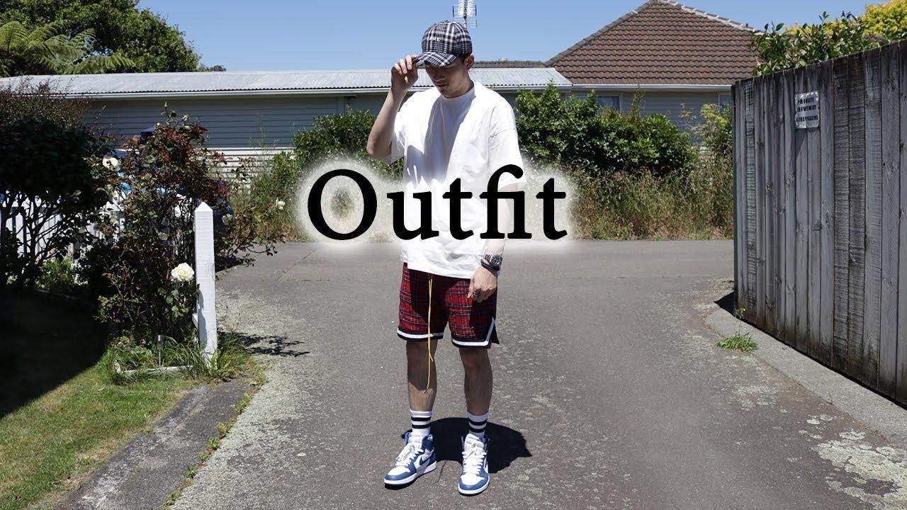 Cozy Outfit With Air Jordan 1 Plaid Shorts Ft Rolex Mnml La