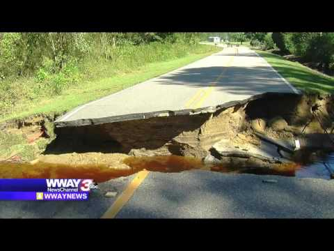 Flooding washes out roads in Bladen County