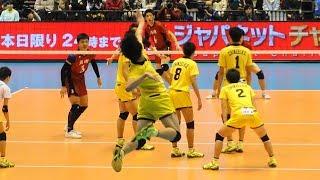 水町泰杜 鍬田憲伸 洛南vs鎮西 第3セット 春高バレー2018 男子決勝