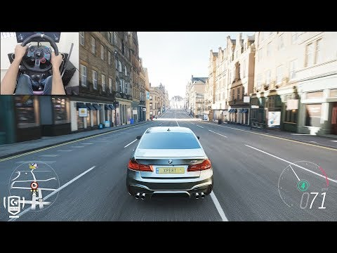 BMW M5 F90 - Forza Horizon 4   Logitech g29 gameplay