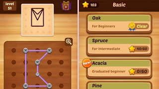 Line puzzle String art 41-60 Spruce Level 51