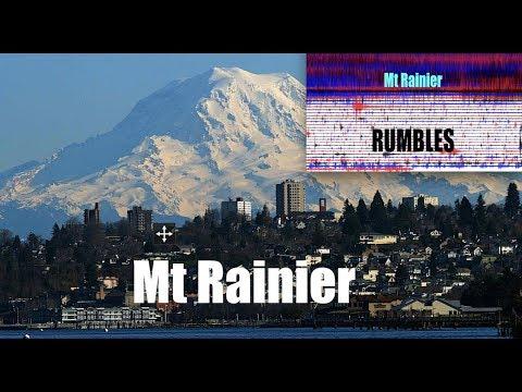 Mt Rainier Volcano is beginning to RUMBLE - Seismographs very active!