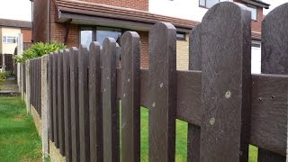 How to Build and Install a  Recycled Plastic Fence Panel